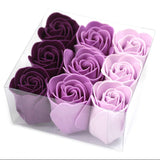 Set Of 9 Lavender Rose Soap Flowers Box - Hello Chestnut
