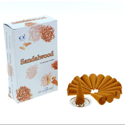 Stamford Sandalwood Incense Cones - Hello Chestnut