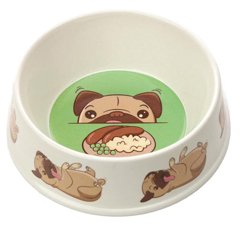 Bamboo Composite Pug Dog Bowl - Hello Chestnut