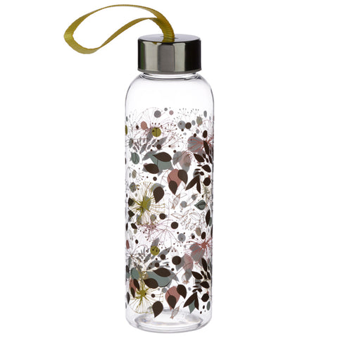 Botanical Wisewood Reusable Water Bottle - Hello Chestnut