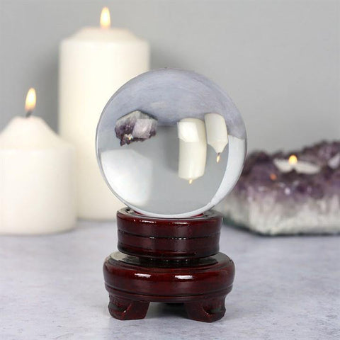 8cm Crystal Ball On Stand - Hello Chestnut