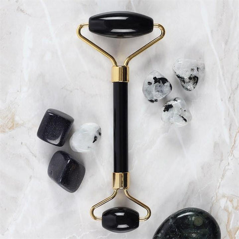 Black Obsidian Gemstone Face Roller - Hello Chestnut