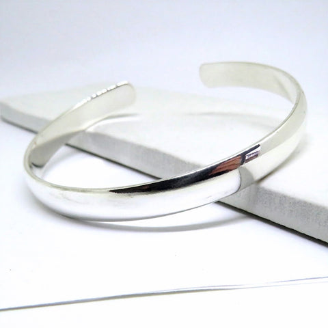 Chunky Silver Cuff Bangle - Hello Chestnut