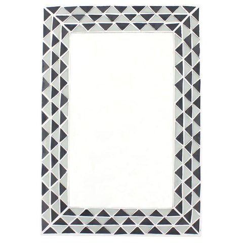 Triangle Pattern Monochrome Mirror - Hello Chestnut