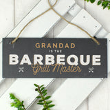 "Personalised ""BBQ grill master"" hanging slate plaque - Hello Chestnut"