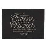 Personalised Cheese To My Cracker Slate Chopping Board - Hello Chestnut