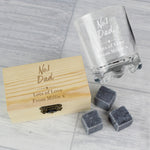 Personalised No.1 Whisky Stones & Glass Set - Hello Chestnut