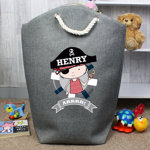 Personalised Pirate Storage Bag - Hello Chestnut