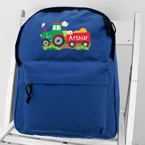 Personalised Tractor Backpack - Hello Chestnut