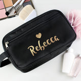 Personalised Gold Name Vanity Bag - Hello Chestnut