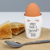 Personalised You're A Good Egg Cup - Hello Chestnut