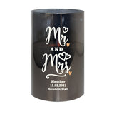 Personalised Mr & Mrs Smoked Glass LED Candle - Hello Chestnut