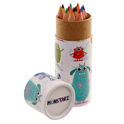 Monsters Colouring Pencils Tube - Hello Chestnut