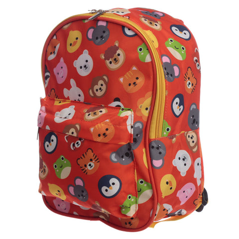 Red Animal Faces Rucksack - Hello Chestnut