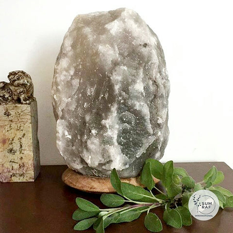 Grey Himalayan Salt Lamp 3-5kg - Hello Chestnut