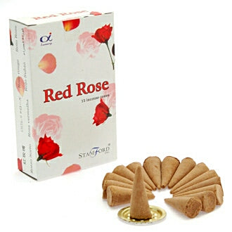 Stamford Red Rose Incense Cones - Hello Chestnut