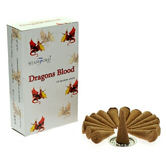 Stamford Dragons Blood Incense Cones - Hello Chestnut