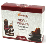Aromatica 7 Chakras Backflow Incense Cones - Hello Chestnut
