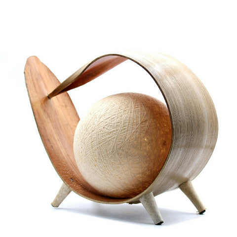 Natural Wrapover Coconut Lamp - Hello Chestnut