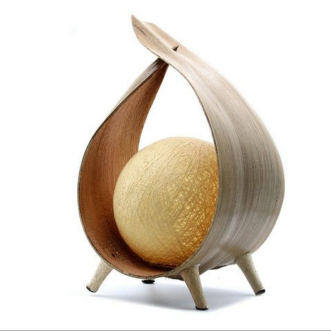 Natural Loop Coconut Lamp - Hello Chestnut