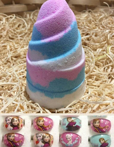 Frozen Themed Hidden Treasures Ring Bath Bomb - Hello Chestnut