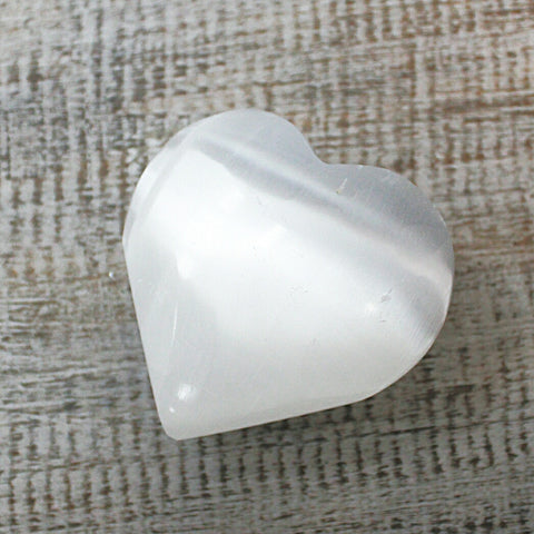 Selenite Heart - Hello Chestnut