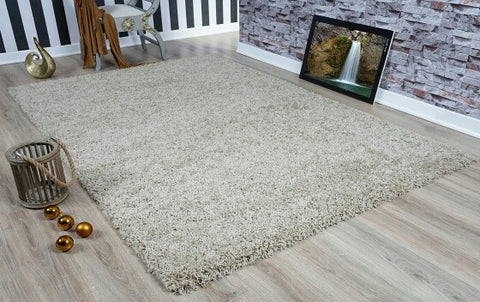 Light Beige Oxford Shaggy Rug