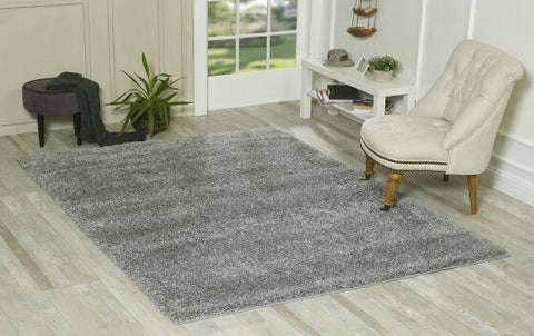 Silver Grey Oxford Shaggy Rug