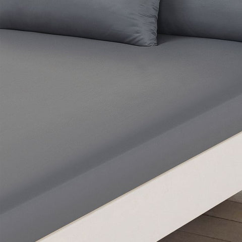 Grey Fitted Bed Sheet - Hello Chestnut
