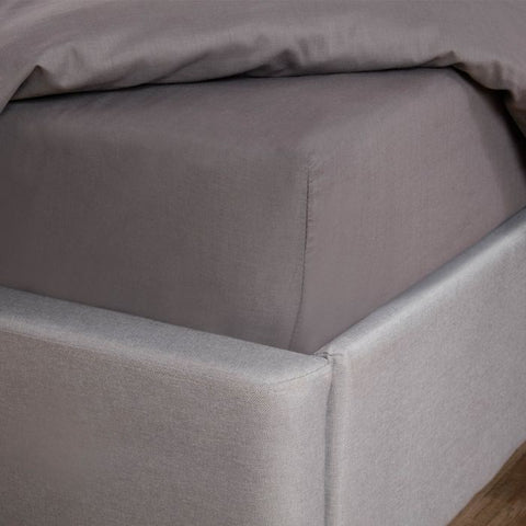 Charcoal Grey Easy Care Fitted Bed Sheet - Hello Chestnut