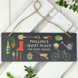 Personalised Garden Printed Hanging Slate Plaque - Hello Chestnut