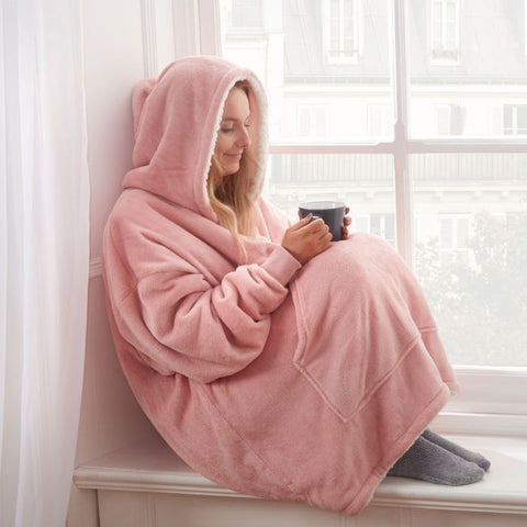 Blush Pink Super Soft Hoodie Blanket - Hello Chestnut