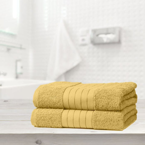 Set Of 2 Jumbo Bath Towels - Hello Chestnut