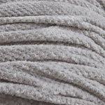 Silver Grey Luxury Waffle Throw