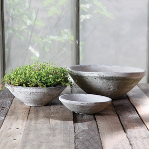TERRA COTTA BOWL WHITE (L) - Bungalow 56 Living