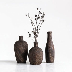 BLACK CHARRED VASES - Bungalow 56 Living