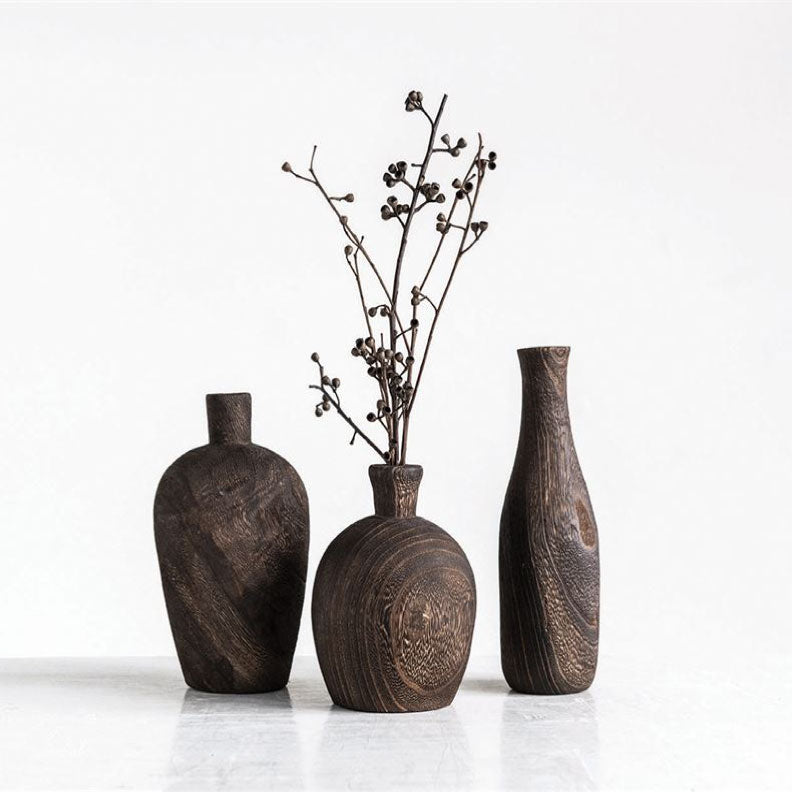 BLACK CHARRED VASES - Bungalow 56