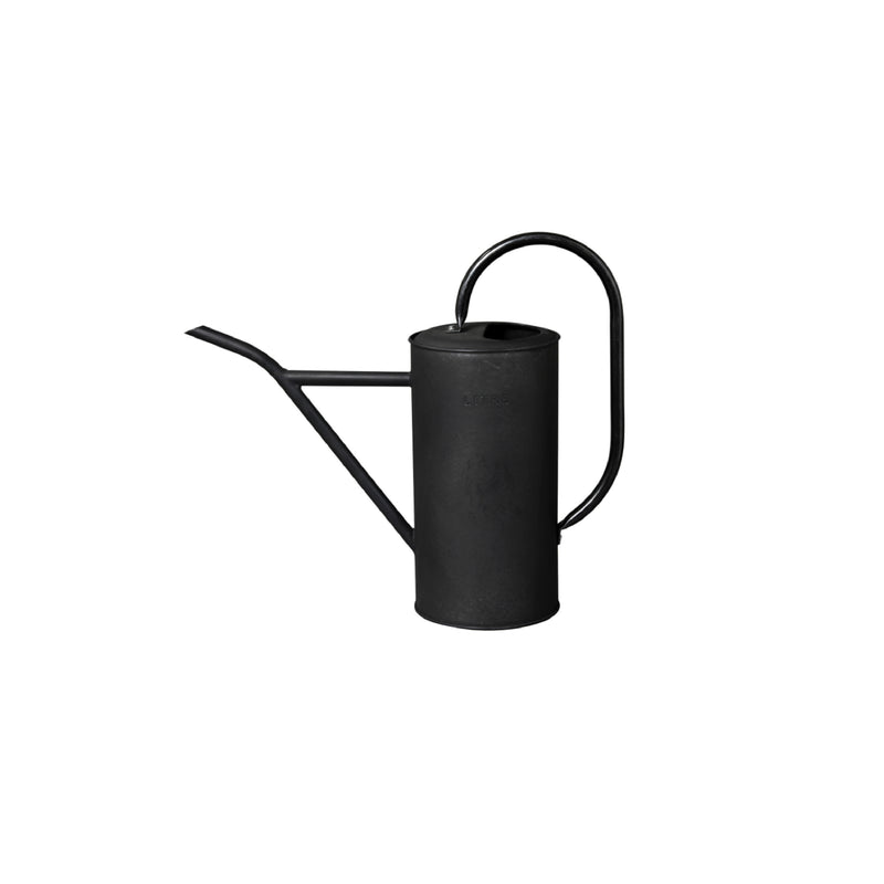 Tin Watering Can Black 2.5L - Bungalow 56
