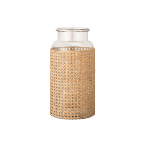 Cane Wrapped Vase Tall - Bungalow 56