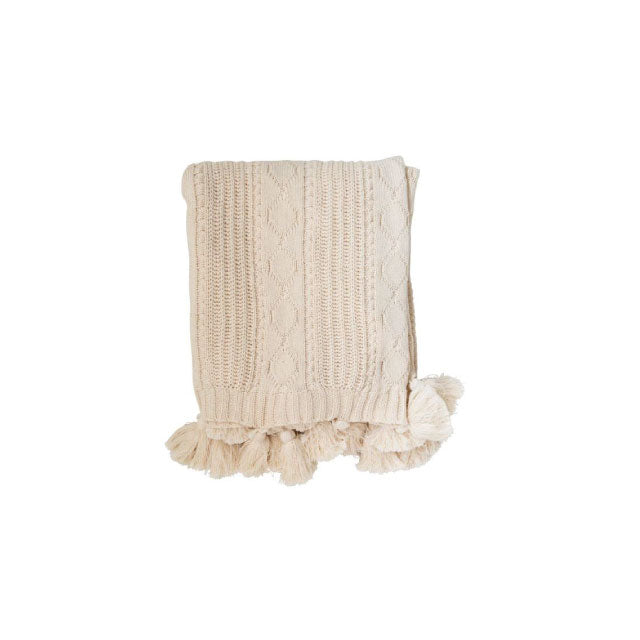 Cotton Knit Cable Throw - Bungalow 56