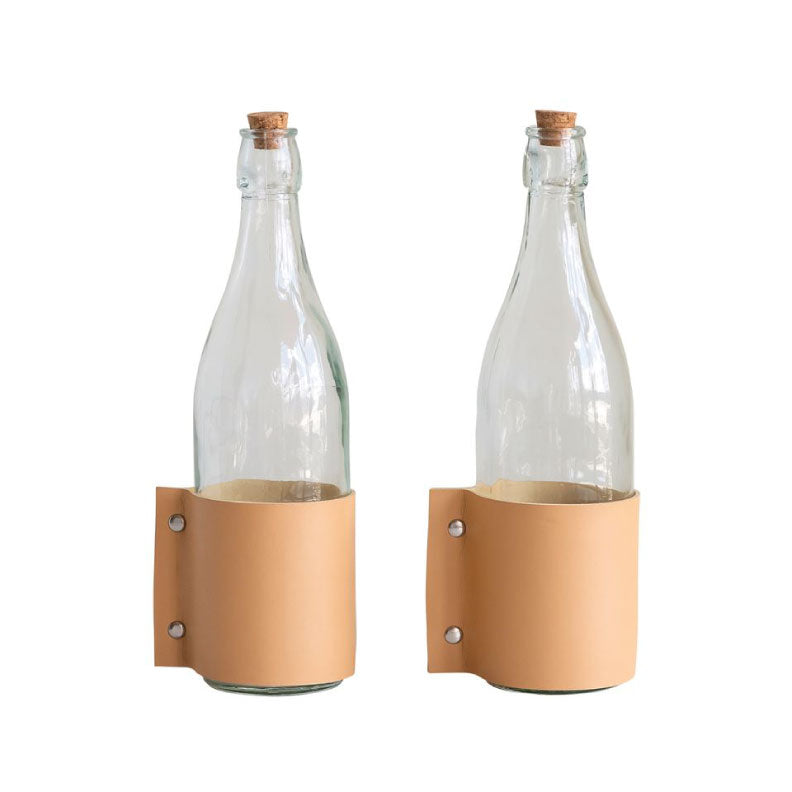 LEATHER WRAP BOTTLE - Bungalow 56 Living