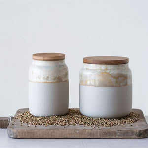 GLAZED JAR + LID - Bungalow 56 Living