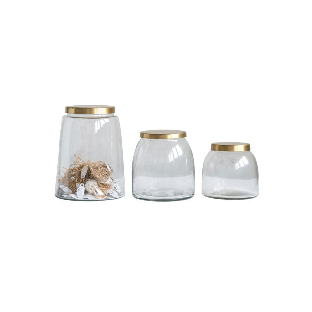 Brass Jar Set of 3 - Bungalow 56