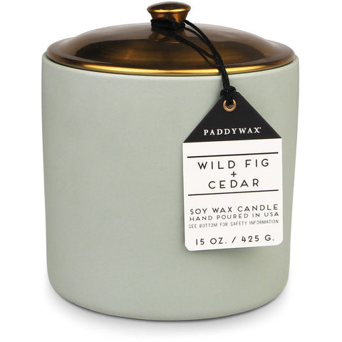Hygge Ceramic Candle // Wildfig & Cedar - Bungalow 56 Living