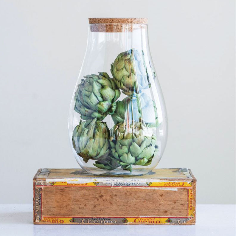 "GLASS + CORK JAR 7"" - Bungalow 56 Living"