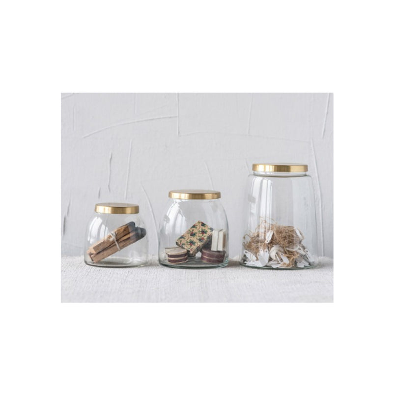 Brass Jar Set of 3 - Bungalow 56 Living