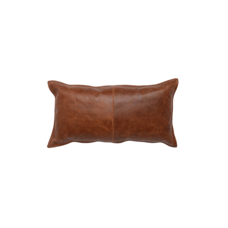 Kona Leather Lumbar Pillow - Bungalow 56
