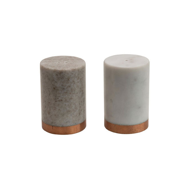 Marble Salt and Pepper Shakers - Bungalow 56