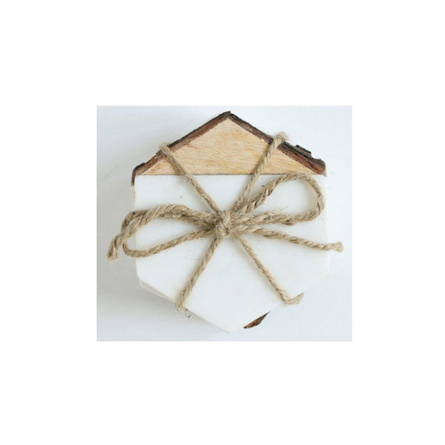 Marble and Wood Coasters - Bungalow 56