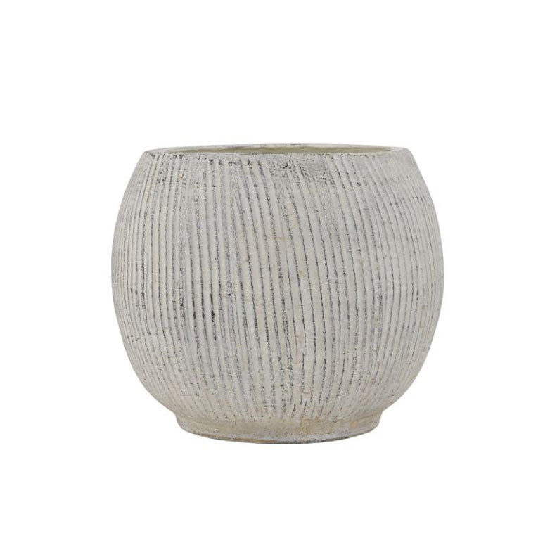 CREAM TEXTURED PLANTER - Bungalow 56